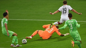 And Algeria goalkeeper Rais Mbholi kept his side in it, with two clutch saves against well-hit balls by Germany forward Mario Goetze