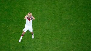 Germany midfielder and captain Phillipp Lahm shared in his side's vexation
