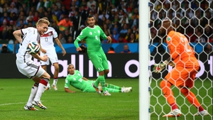 And Germany claimed their victory quickly. Less than three minutes into extra time, forward Andre Schuerrle dinked in a ball behind him to give Germany their decisive score