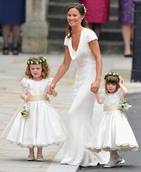 Pippa on her royal bridesmaids dress
