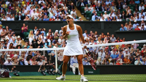 Angelique Kerber will play Eugenie Bouchard in the quarter-final