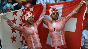 Some pretty ripped Swiss fans showed up to cheer on the