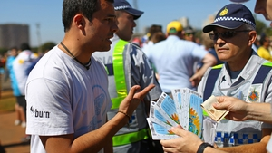 Police have been checking tickets at a number of World Cup stadiums