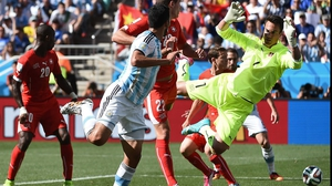 Argentina did put some pressure on Switzerland keeper Diego Benaglio later in the first, but both sides headed into the break drawn scoreless and looking for a breakthrough