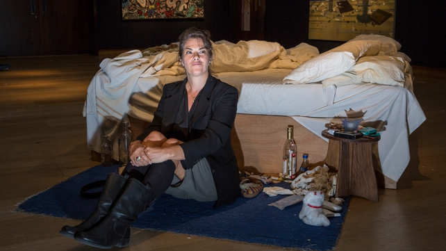 'My Bed' comes complete with empty vodka bottles, cigarette butts and discarded condoms