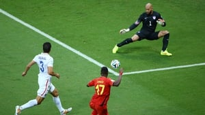 Belgium made a quick start and Divock Origi was denied inside the first minute by Tim Howard