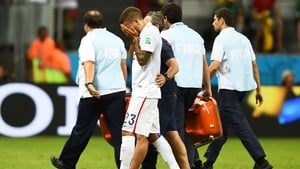 There was a blow for the US as defender Fabian Johnson went off with a hamstring injury