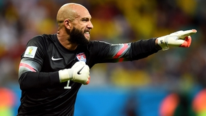 Tim Howard produced numerous saves to keep out the Belgians as they dominated after the break