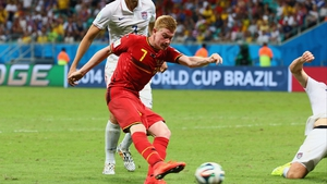 The pressure paid off for Belgium as Kevin De Bruyne fired them into the lead early into extra-time