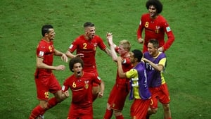 The Belgian goal celebrations were as much joy as relief