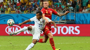 Belgium switched off just after the break in extra-time and Julian Green ran on to a Michael Bradley pass to volley into the corner