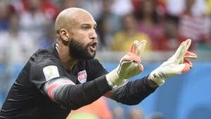 Tim Howard made 16 saves in the game for the US