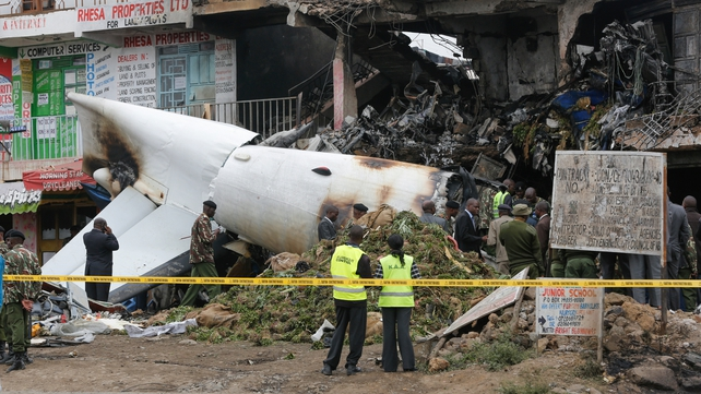 Four people were killed when the cargo plane crashed