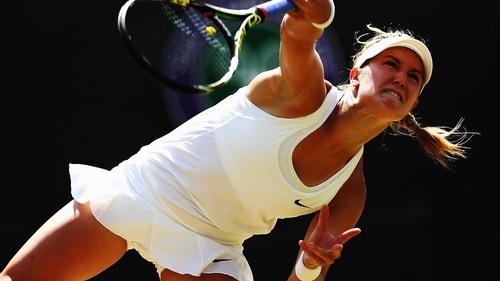 Eugenie Bouchard will face Romanian third seed Simona Halep
