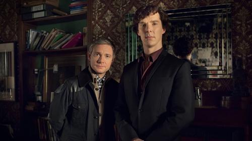 Sherlock's Martin Freeman and Benedict Cumberbatch