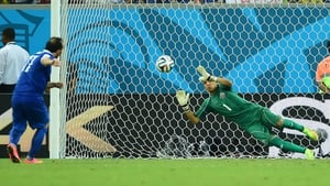 Keylor Navas saved the crucial penalty in the shoot-out against Greece