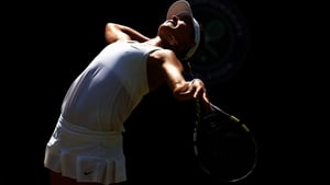 Canada's Eugenie Bouchard in action at Wimbledon
