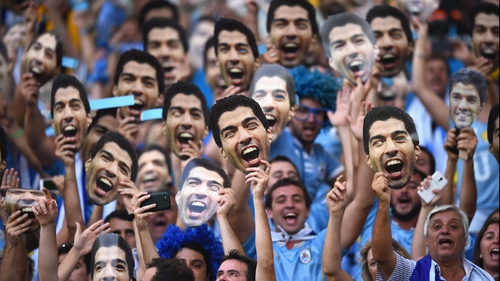 There's only one Luis Suarez - Uruguay fans saw their side flounder at the Maracana without the talismanic striker as Colombia progressed to the World Cup quarter-finals