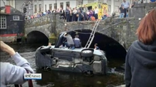 Elderly couple injured after car plunges from bridge in Co Roscommon
