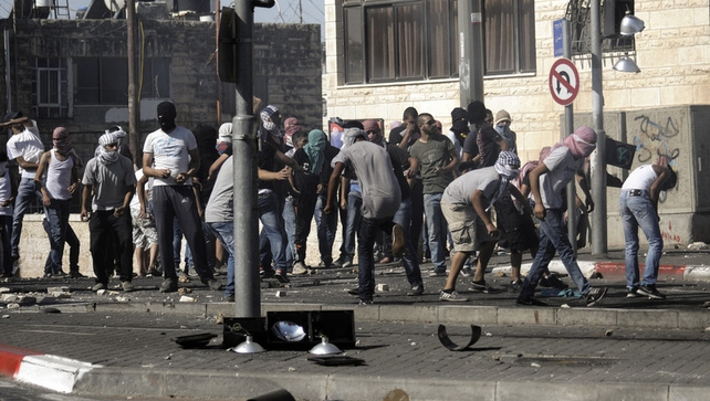 Palestinians clashed with Israeli police in East Jerusalem yesterday