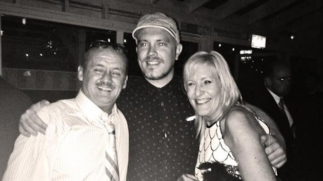Ryan (centre) with Brendan O'Carroll and his wife Jenny at the recent premiere of Mrs Brown's Boys D'Movie