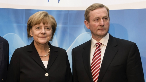 Enda Kenny and Angela Merkel had discussions in Berlin