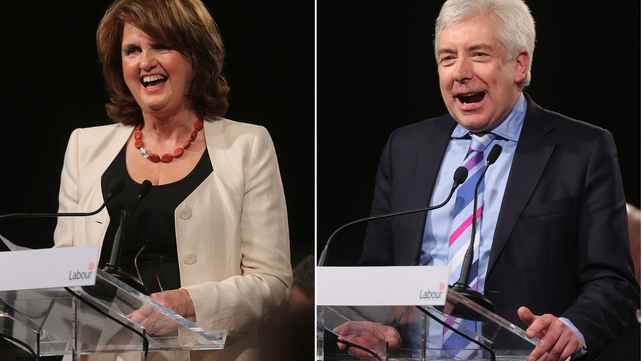 Joan Burton and Alex White are contesting the leadership of the party
