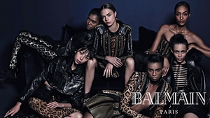 Cara Delevingne and Jourdan Dunn are among the stars of the new Balmain campaign