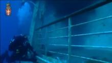 Underwater footage of Costa Concordia wreck