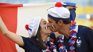French kissing in the Maracana