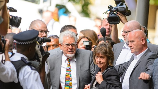 Rolf Harris arriving at Southwark Crown Court earlier today