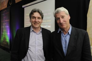 Jeremy Paxman pictured at the Hay festival in Kells, Co Meath in July, with RTÉ's Arena presenter Seán Rocks