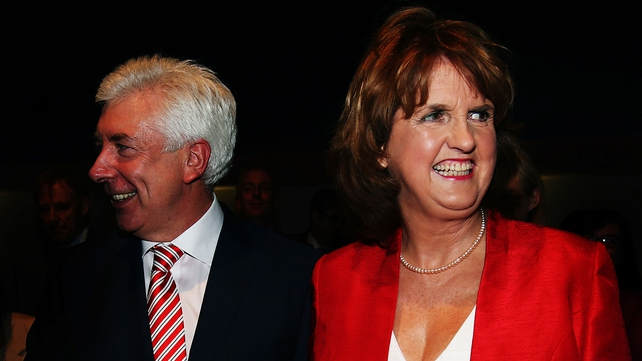 Joan Burton paid tribute to Alex White, whom she defeated by a margin of 77% to 22%