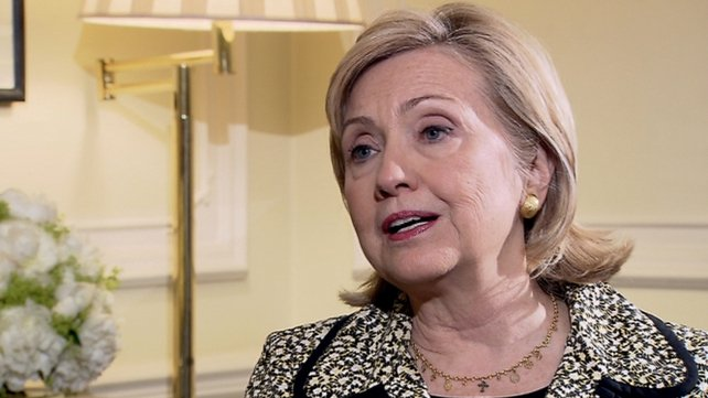 Hillary Clinton said the US would help Northern Ireland in any way appropriate