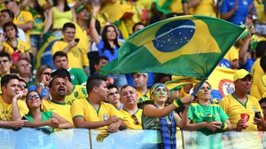 Brazilian fans packed the stadium in Fortaleza for their side's clash with Colombia
