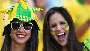 Brazilian fans in confident mood before the game