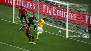 Thiago Silva gives Brazil the lead in just the seventh minute