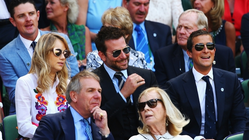 Suki Waterhouse, Bradley Cooper and Bear Grylls at Wimbledon