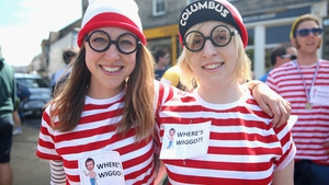 Cycling fans wear 'Where's Wiggo' t-shirts in reference to Bradley Wiggins as they watch Stage 1 of the Tour de France in Yorkshire