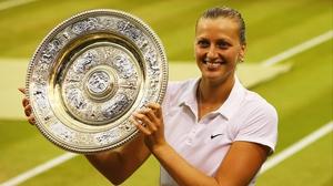 Petra Kvitova all smiles after winning her second Wimbledon title
