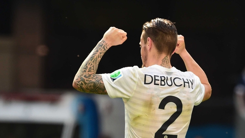 Mathieu Debuchy had previously removed mention of his being a Newcastle player from his Twitter account