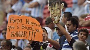 Even though Brazil had played the day before, fans of the host nation came out to support their side, in the wake of star striker Neymar's tournament-ending spine injury