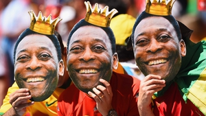 While some Belgium fans channelled the spirit of Brazilian great Pele to cheer on the Red Devils