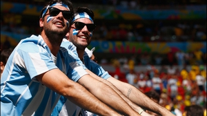 Argentina fans soaked up the sun in Brasília ahead of the match
