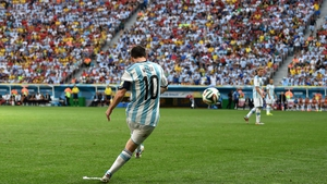 Messi took a free kick from a dangerous position...
