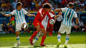 Fellaini continued to work hard to slug through the Argentina back line