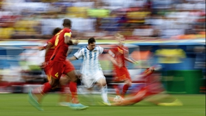 While Messi flew across the pitch, keeping the ball firmly in control for his South American side
