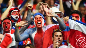 Costa Rica's supporters could celebrate earning a scoreless draw through the first 45' in a match that they were hoping to - somehow - pull off with a win
