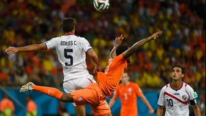 Costa Rica midfielder Celso Borges and Netherlands midfielder Georginio Wijnaldum flew around the pitch in something resembling a ballet