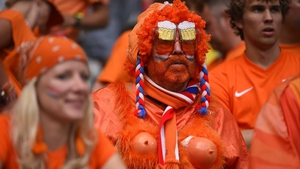 This Dutch fan didn't quite know how to feel